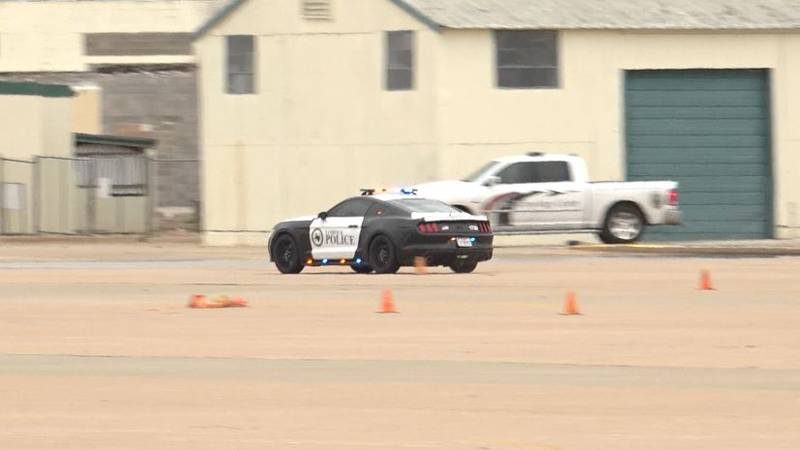Lubbock police officers took their bi-annual National Academy for Professional Driving course...