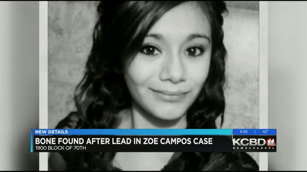 GF Default - Bone found near Lowery Field connected to Zoe Campos investigation
