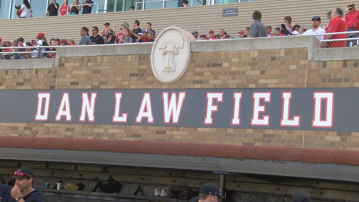 sign of Dan Law Field (KCBD Photo)