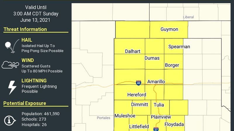 The National Weather Service has issued a Severe Thunderstorm Watch for Bailey, Briscoe,...
