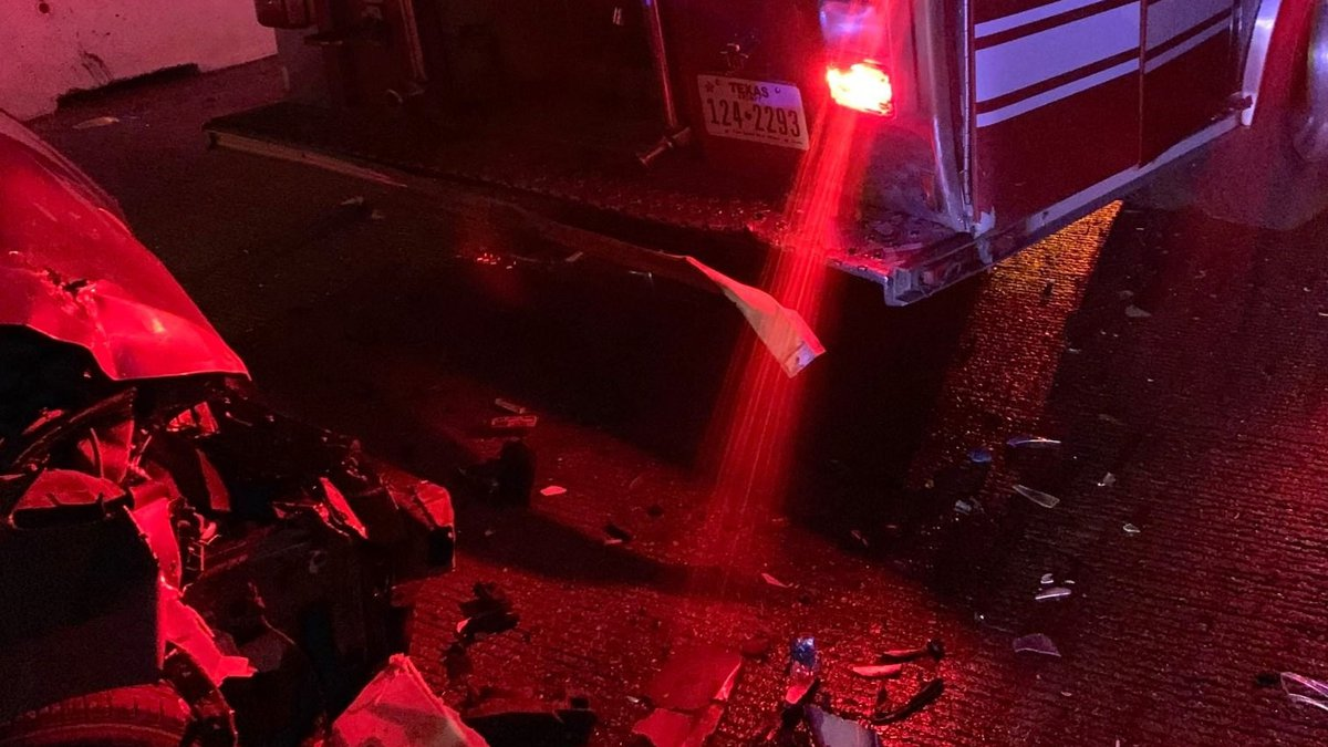 Around 2am on 5-25-21, LFR Engine 1 was blocking traffic on I-27 where N Loop 289 passes over.