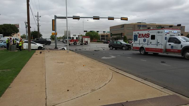 Emergency crews responded to a crash at the intersection of 50th Street and University Friday...