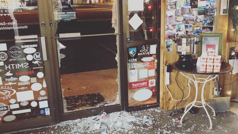 The Lubbock location for Mountain Hideaway at 50th & Utica was hit by a Grinch overnight, as...
