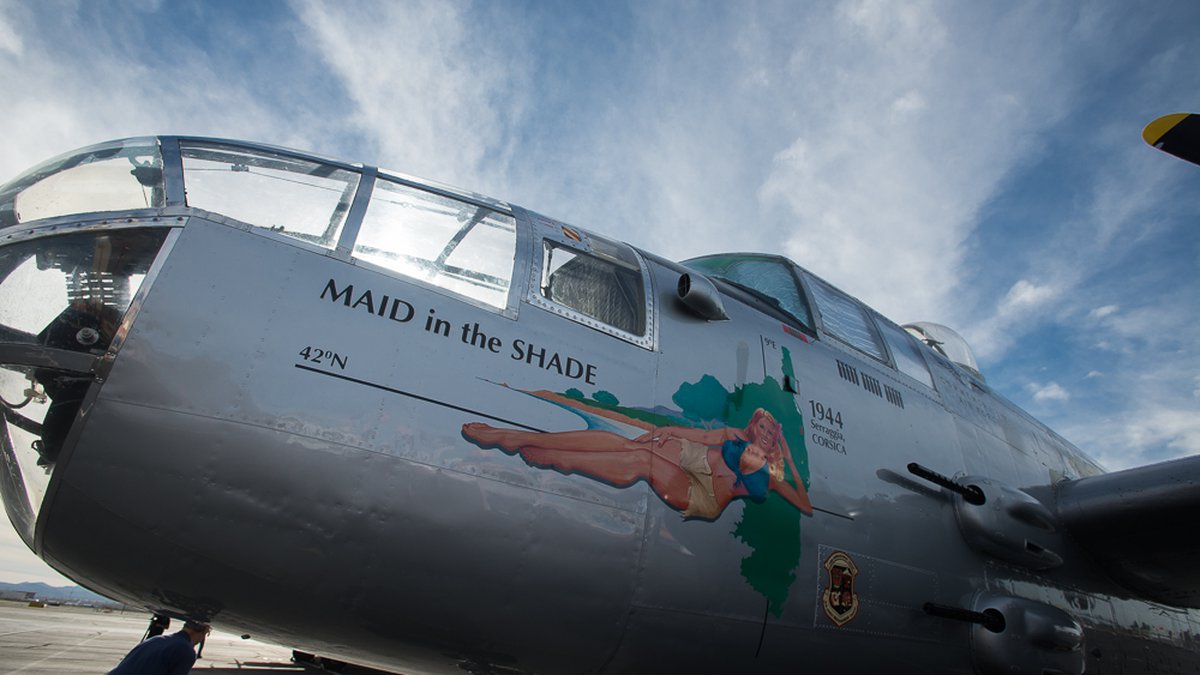B-25 Maid in the Shade WWII bomber (Source: Arizona Commemorative Air Force Museum)