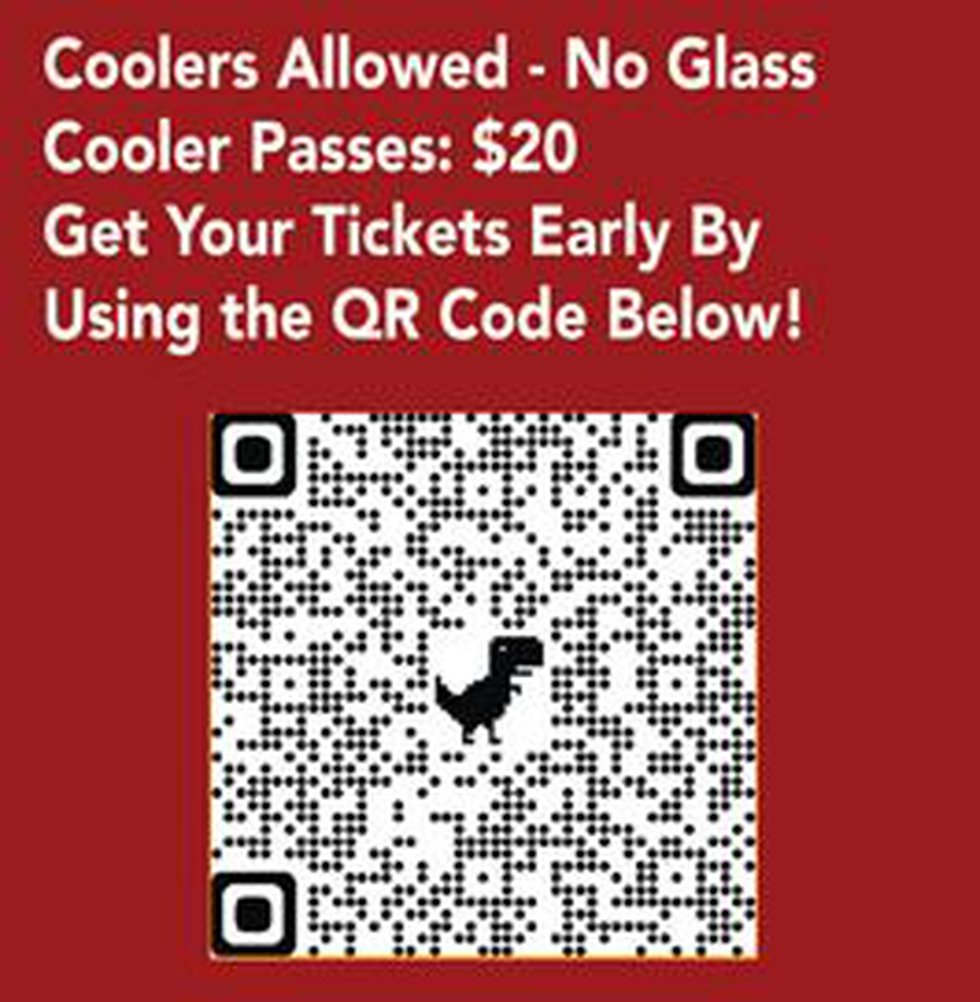 Use this QR code to get your Cotton and Crude fest tickets.