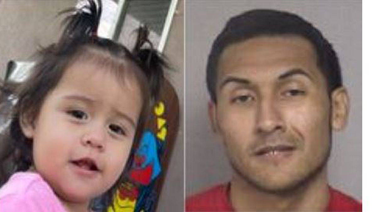 Zaylee Zamora, a female, 1 year old, described as 2 feet 2 inches, 25 lbs, with black hair and...