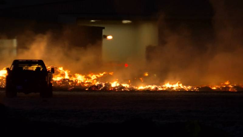 The 55-acre fire, which was reported to the forest service just before 4 p.m. Tuesday, engulfed...