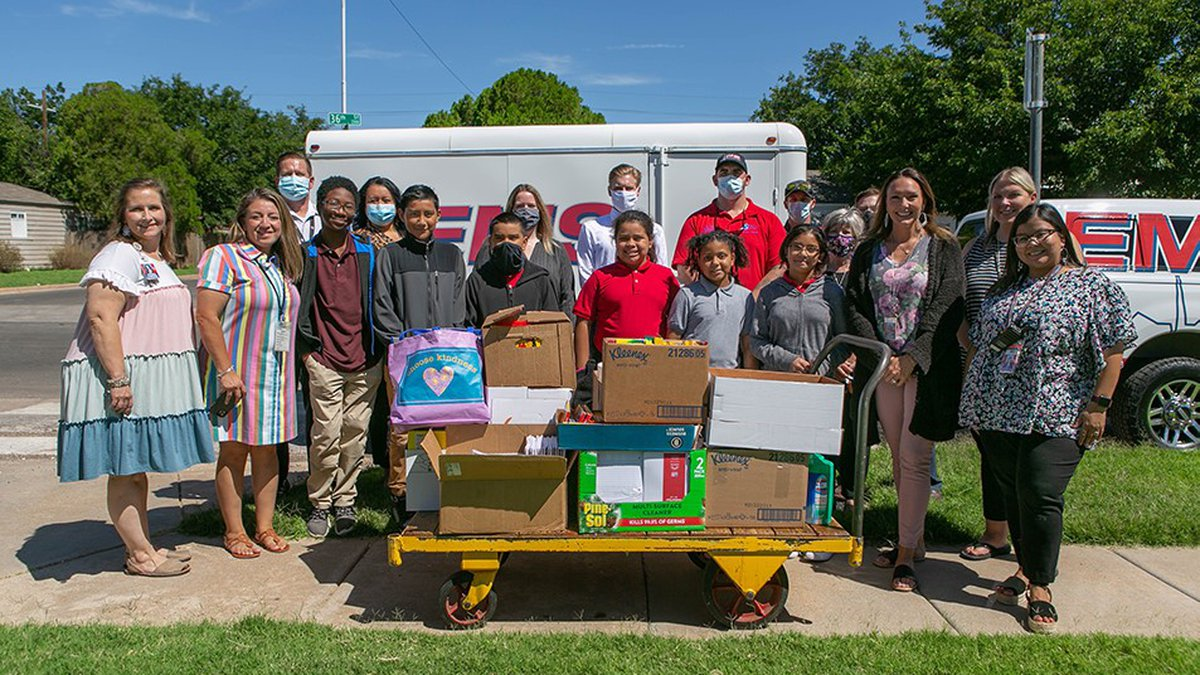UMC Delivered School Supplies to Brown Elementary