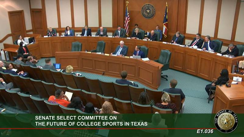 The Senate Select Committee on the Future of College Sports in Texas meets for the first time.