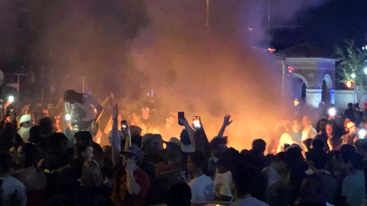 Rowdy crowd after Texas Tech win (Source: Caleb Holder, KCBD)