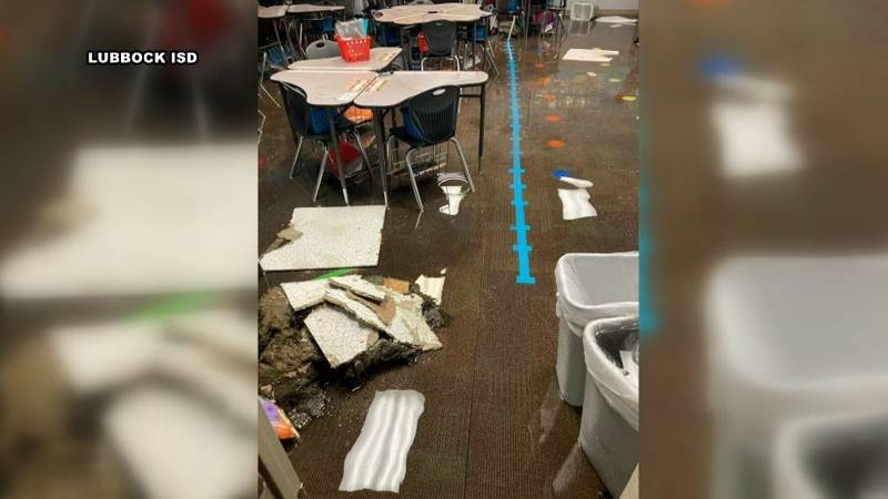 Lubbock ISD classroom flooded after winter storm