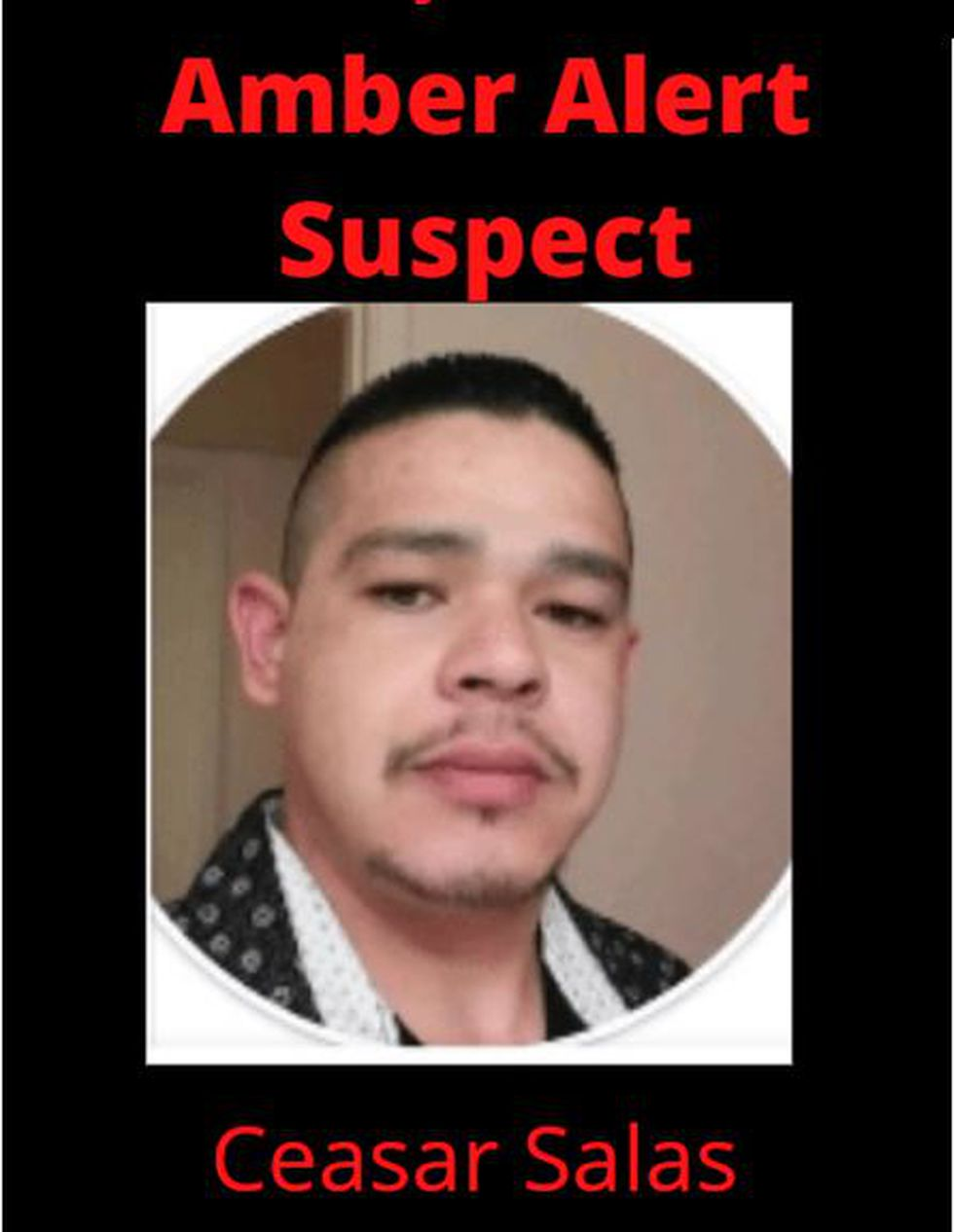 Ceasar Salas is a suspect in a New Mexico Amber Alert.