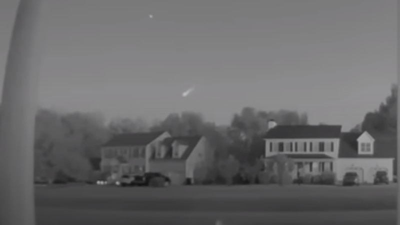 NASA says a fireball was visible 48 miles above the ocean off Camp Lejeune and was moving at...