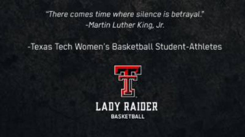 Texas Tech Lady Raiders statement in support of protesting student athletes