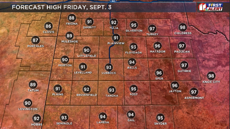 Another warm day is on the way for the South Plains