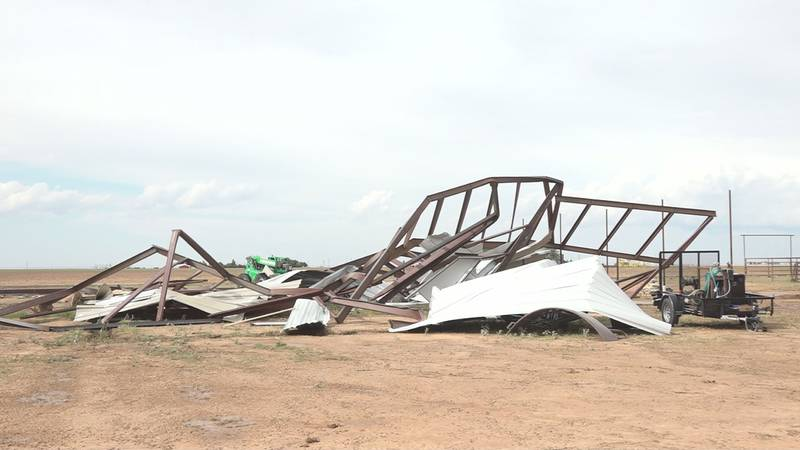 The tornado ripped Kerry and Jill Winders' new barn apart before it was even finished.