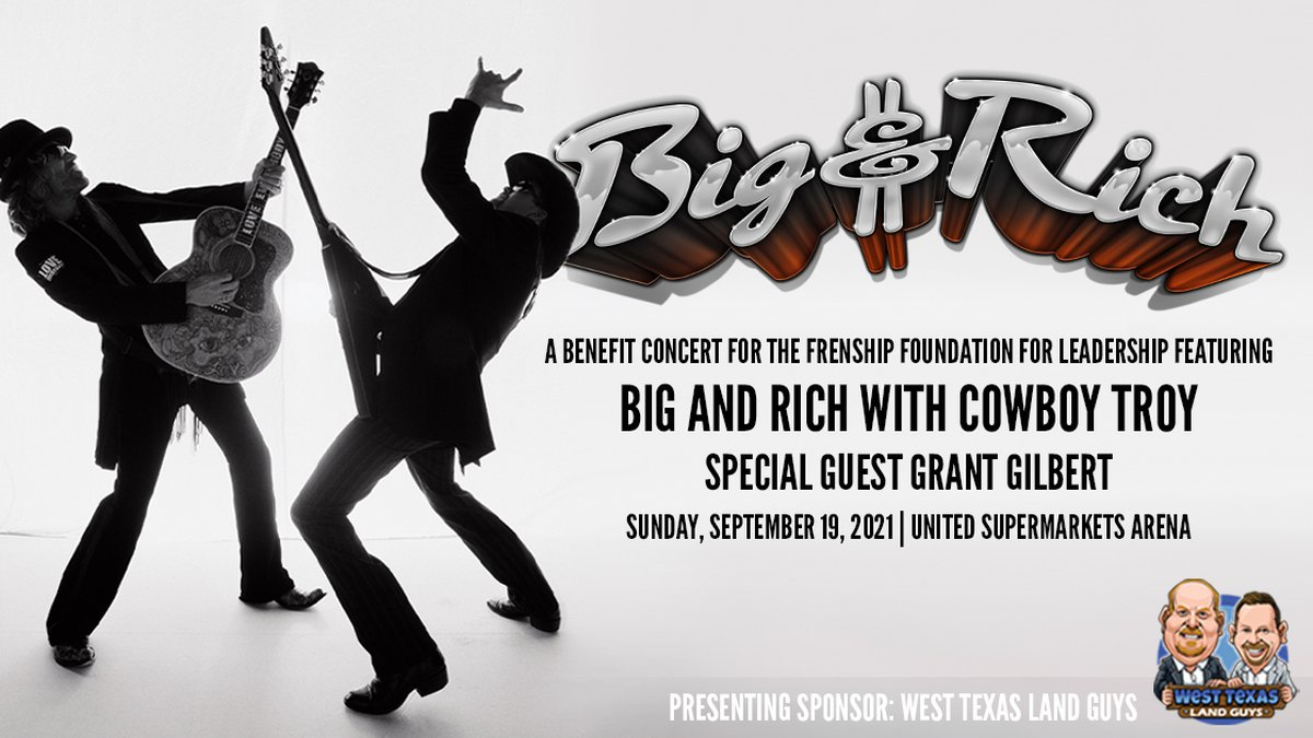 Big and Rich are headed to the Hub City to headline the Frenship Foundation for Leadership's...