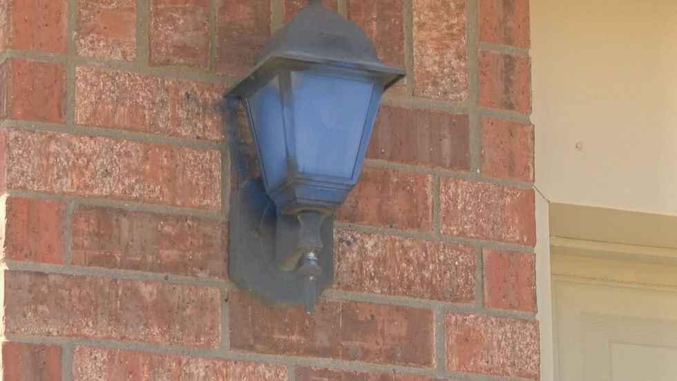 Vandalism at Southwest Lubbock home (source: KCBD video)
