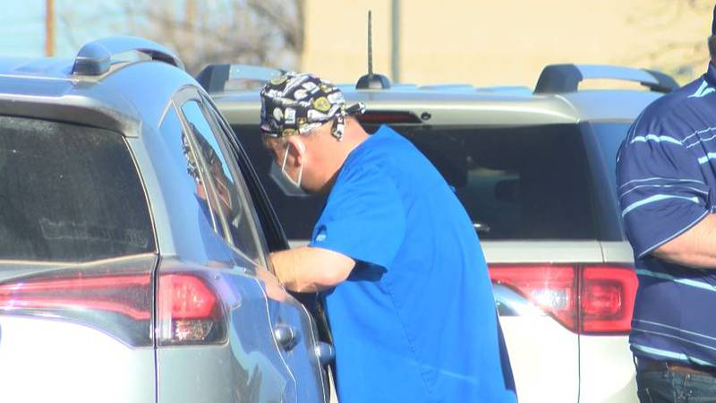 Brownfield Regional Medical Center hosted its third drive-thru vaccination clinic