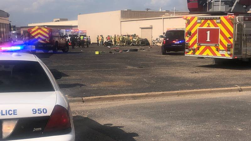 Two people were injured in a rollover on Saturday evening near 28th Street and I-27.