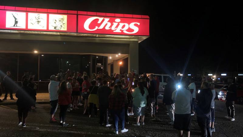 Vigil for Teejay Bailey, Wednesday night at Chips Sports Bar & Grill