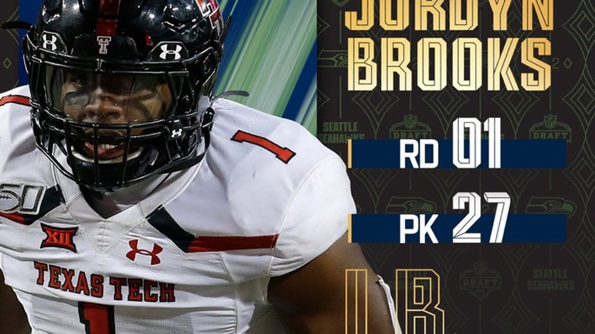 Red Raider LB Jordyn Brooks heard his name called in the first round of the NFL Draft Thursday...