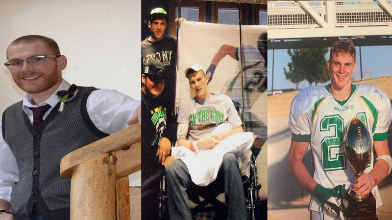 Tanner Cook, the 17 year old from Idalou who suffered a traumatic brain injury during a...