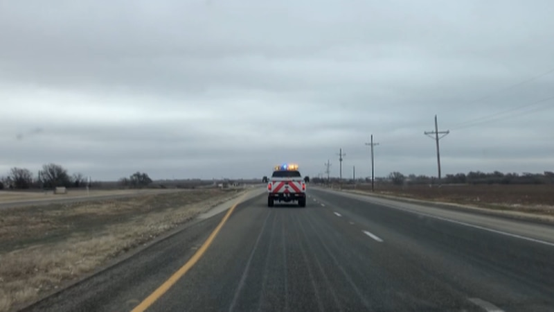 TxDOT crews were out this morning pre-treating roads before the wintry weather comes through.