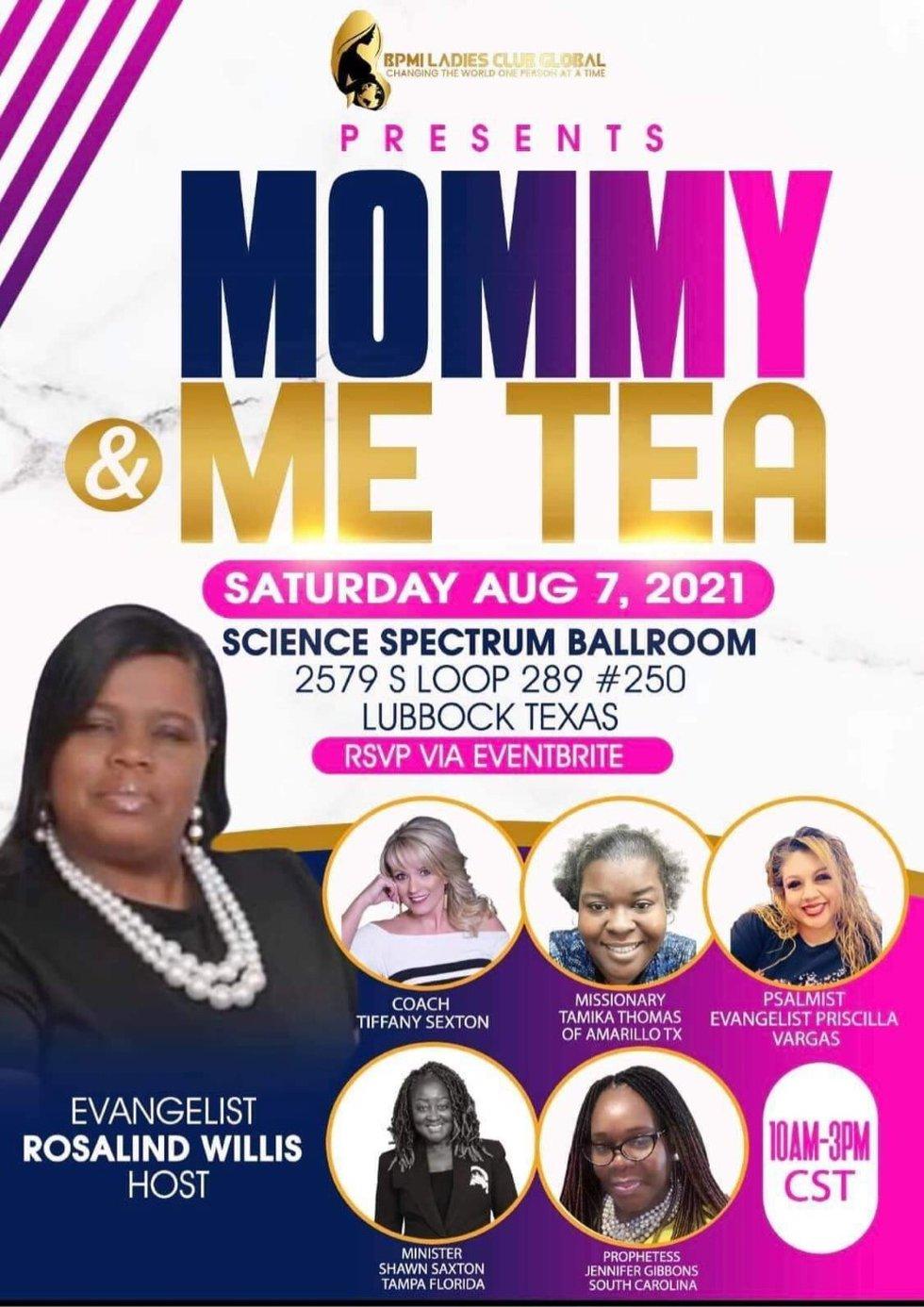 Mommy & Me Tea Saturday, August 7
