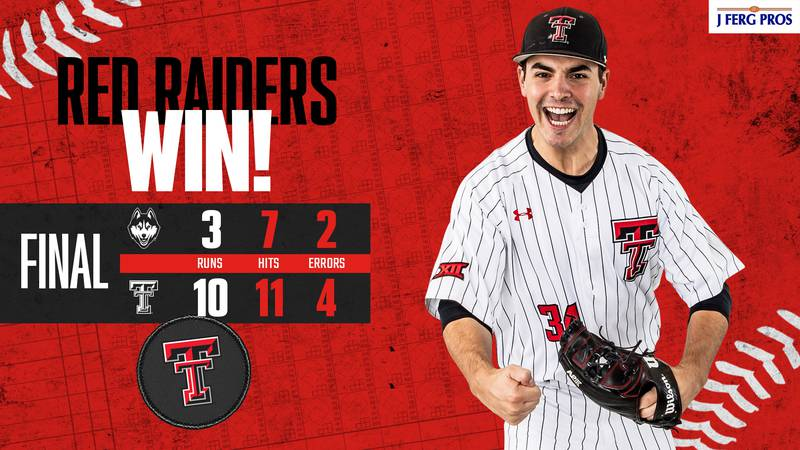 The ninth ranked Texas Tech baseball team keeps the win streak going after a 10-3 win in game...