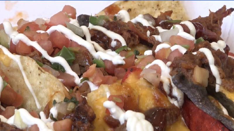 Brisket nachos, quesadillas, chocolate churro quesadillas, chicken fried steak sandwich and...