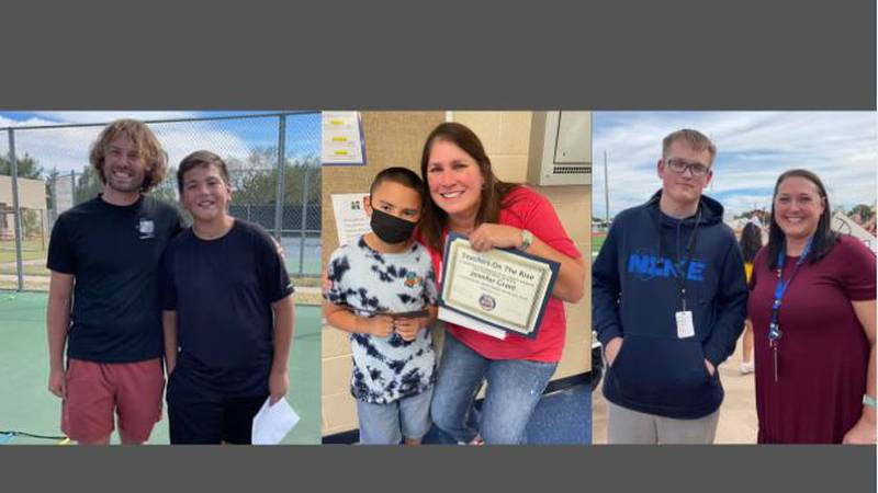 Nicholas Kopper of Evans Middle School, Jennifer Grant Capitol Elementary in Levelland and...