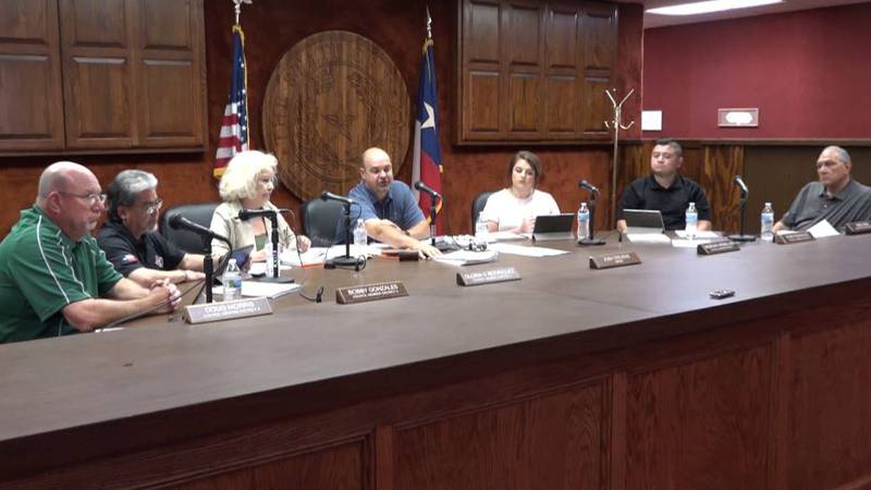 Mayor Josh Stevens points out the petition that forced the Lamesa city council to reconsider...