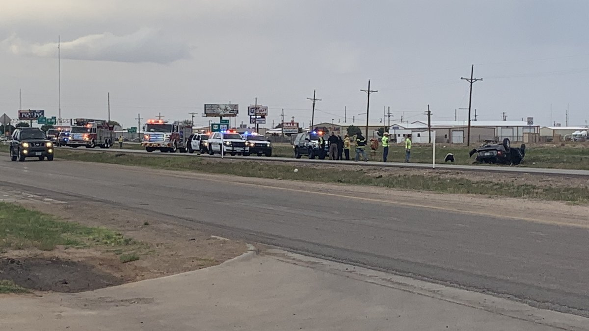 Traffic is delayed from a rollover on Hwy. 87