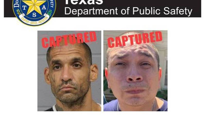 The Texas Department of Public Safety arrested two of Texas' 10 Most Wanted Fugitives.