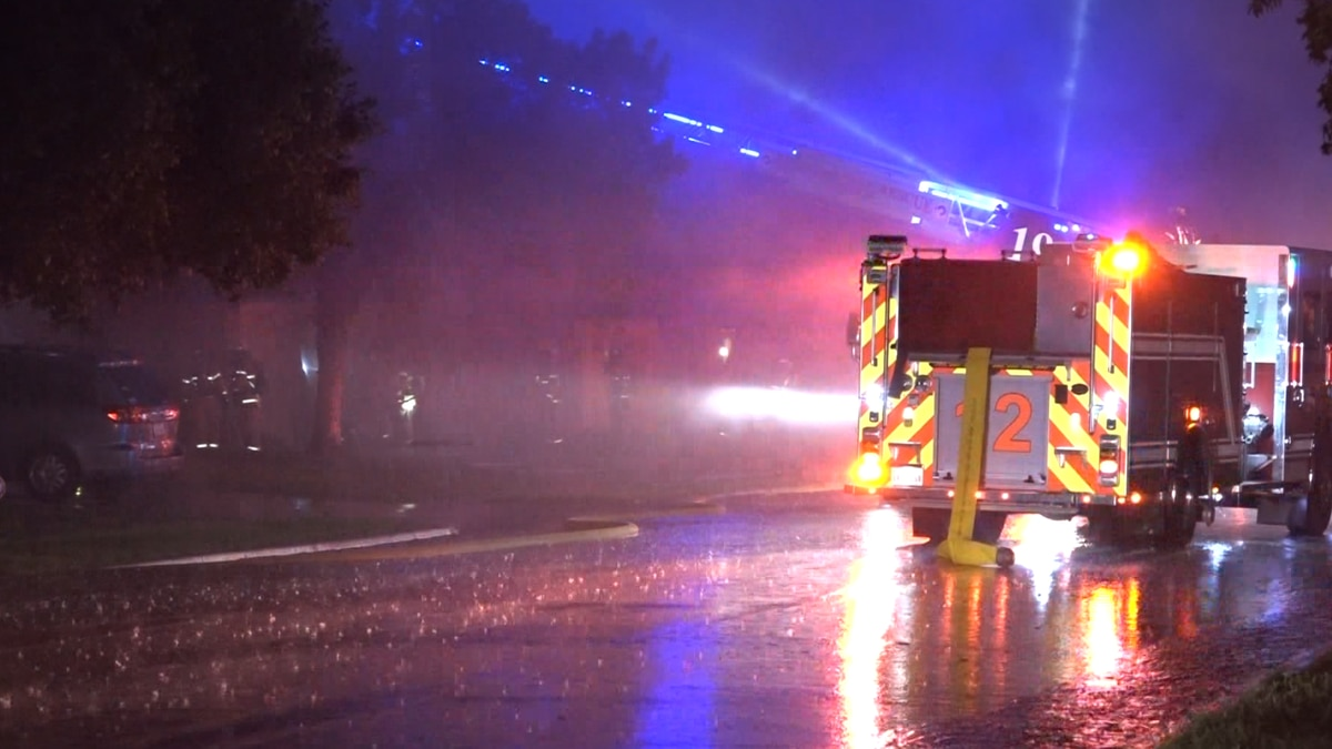 Lightning is to blame for a fire in the 5500 block of 90th Street on June 3, 2021.