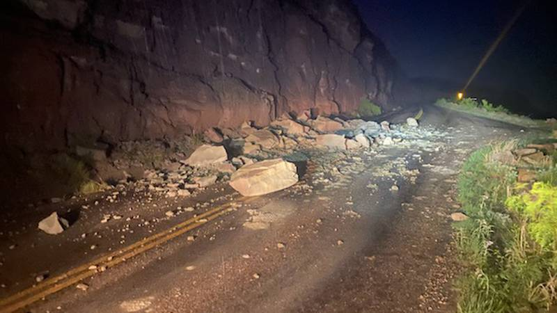 Palo Duro Canyon closed due to rock slide (Source: Palo Duro Canyon State Park)