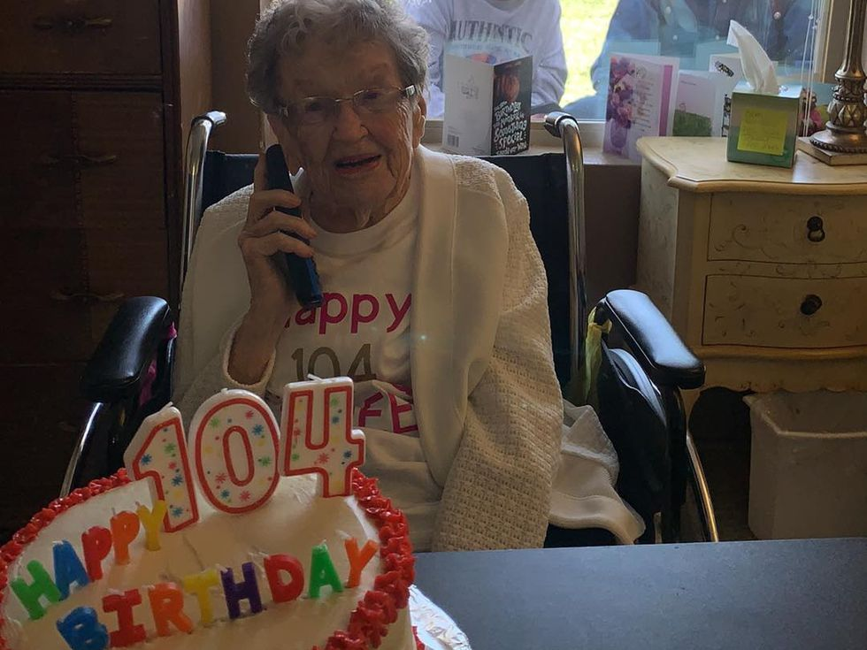 The nursing home staff made her a birthday cake and was able to give it to her as family...