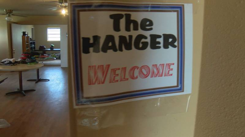 Students in Sundown have joined together to host a weekly clothes drive called The Hanger.