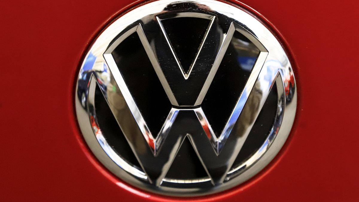 FILE - This Feb. 14, 2019, file photo, shows the Volkswagen logo on an automobile at the 2019...