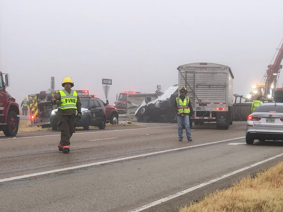 Two semi trucks and multiple vehicles were involved in a crash on Hwy 84 near Southland on...