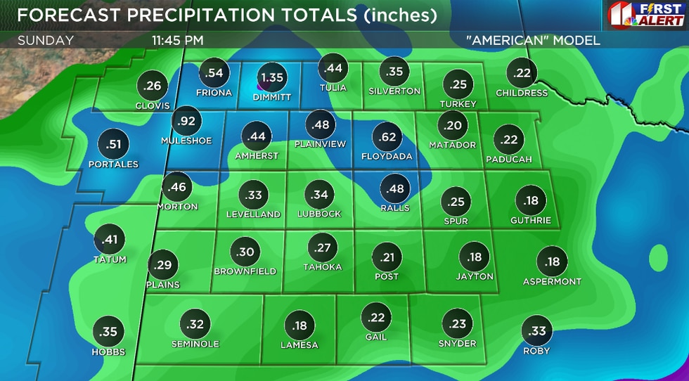 """The computer models, such as the GFS (also known as the """"American"""") shown here, are not in good..."""
