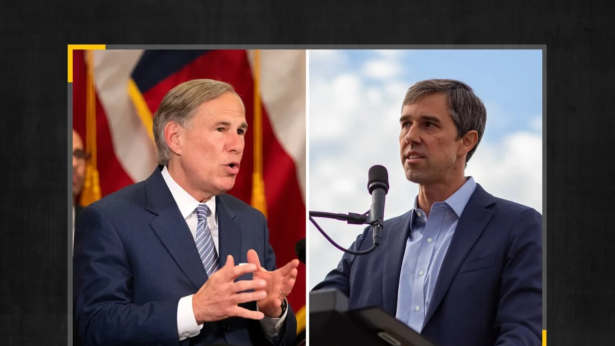Gov. Greg Abbott, left, and former U.S. Rep. Beto O'Rourke, D-El Paso. The two traded...