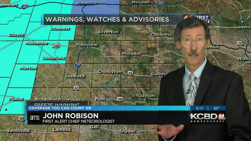 KCBD Weather at 6 for Friday, Oct. 15