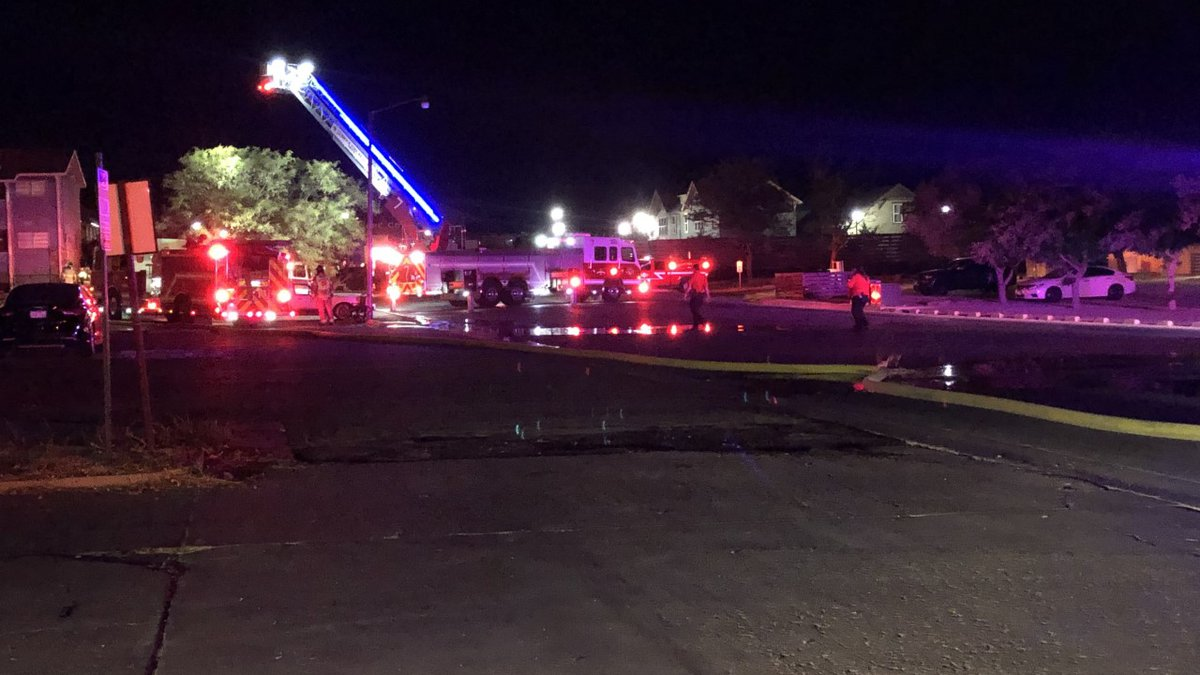 Lubbock Fire Rescue responded to a fire at an apartment complex in North Lubbock Wednesday night.