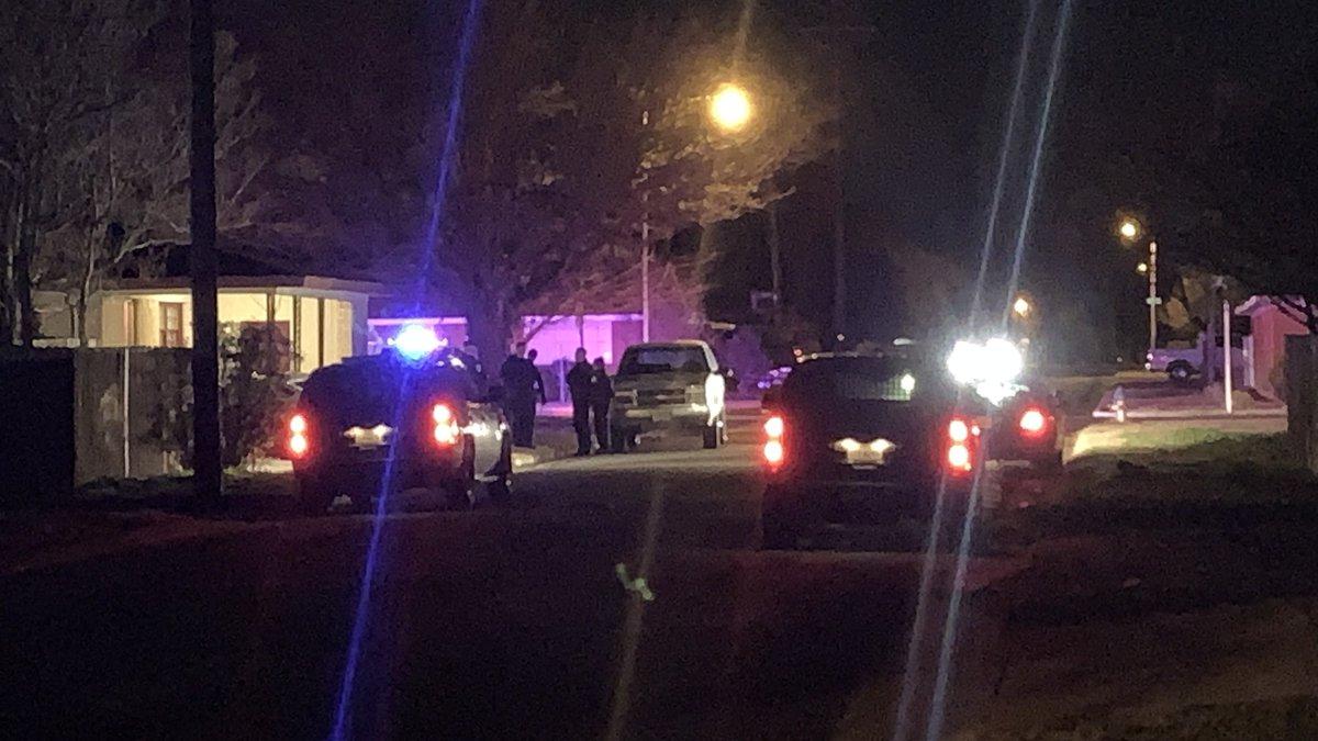 One shot in an incident along 39th Street Wednesday evening. (Jason Norton/KCBD)