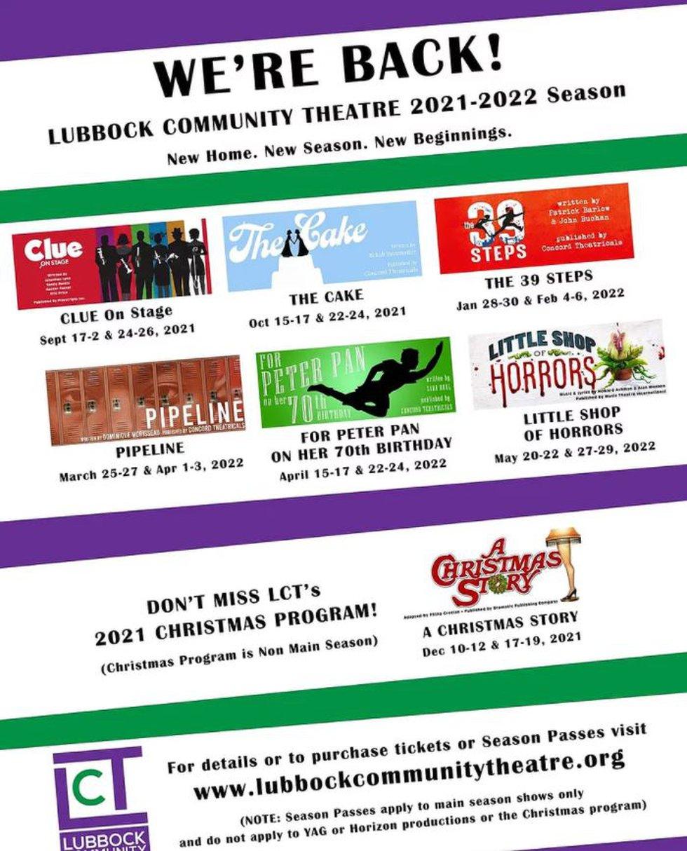 Lubbock Community Theatre begins 2021-2022 season