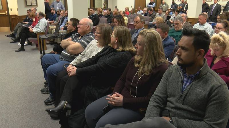 It was standing room only at the commissioner's meeting Monday morning. Former Lubbock County...