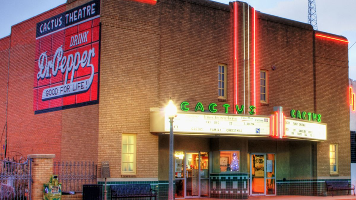 Cactus Theater, located at 1812 Buddy Holly Ave. (Source: Cactus Theater website)