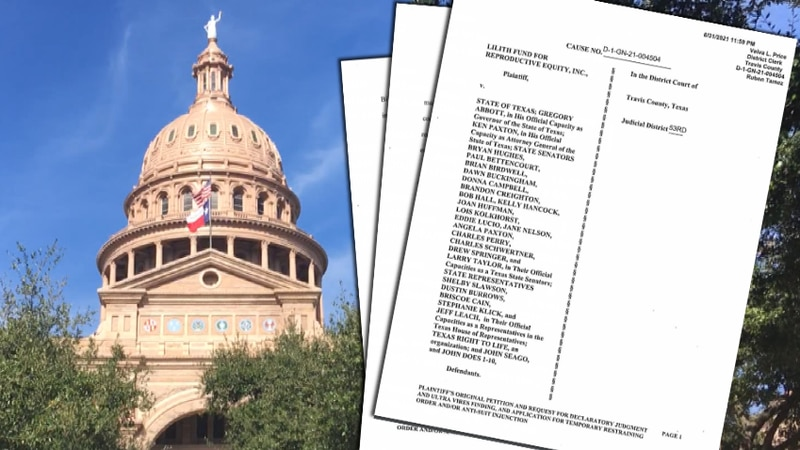 Pro-choice and abortion fund groups sued 22 Texas lawmakers over their work on SB 8.